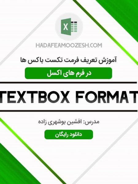 آموزش تعریف فرمت تکست باکس ها در فرم های اکسل